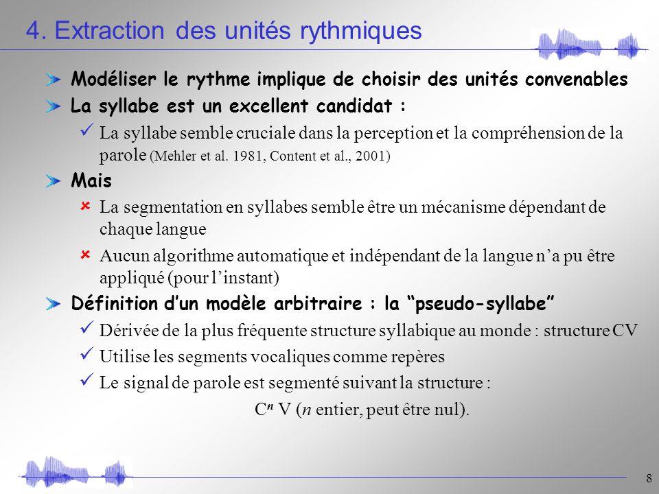 fusion de param u00e8tres rythmiques et segmentaux pour l u2019identification automatique des langues jean