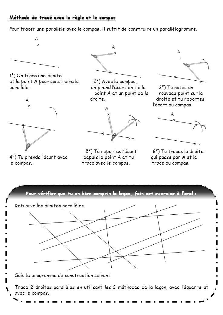 Méthode de tracé avec la règle et le compas