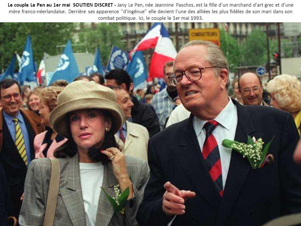 Le couple Le Pen au 1er mai SOUTIEN DISCRET - Jany Le Pen, née Jeannine Paschos, est la fille d un marchand d art grec et d une mère franco-néerlandaise.