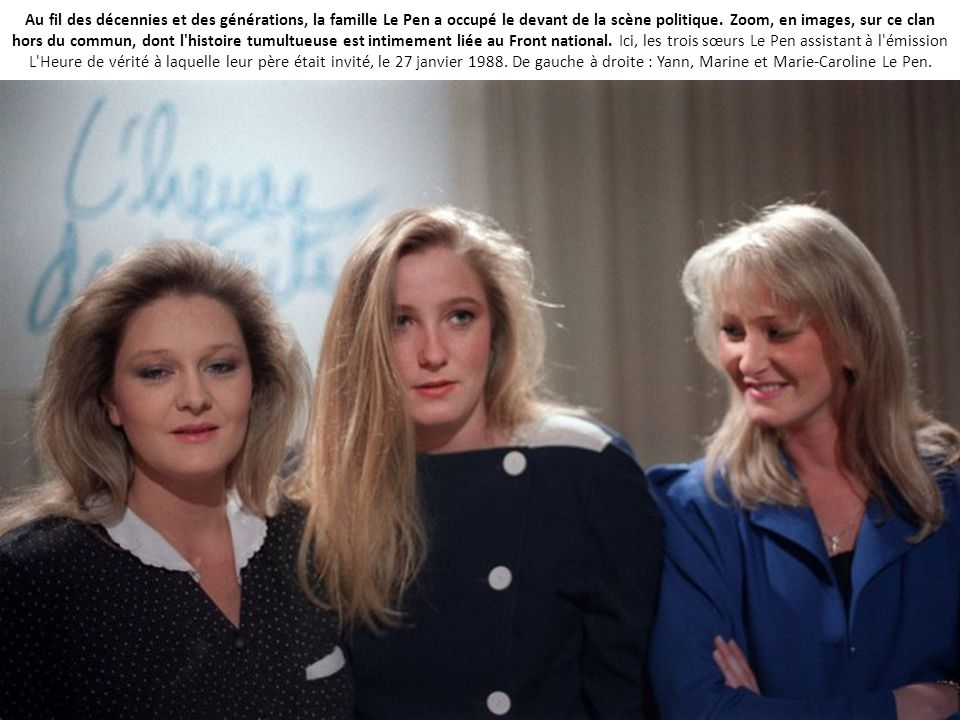 Au fil des décennies et des générations, la famille Le Pen a occupé le devant de la scène politique.