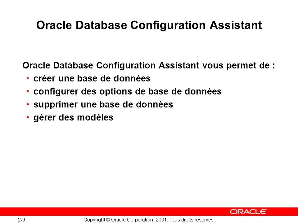 Oracle Database Configuration Assistant