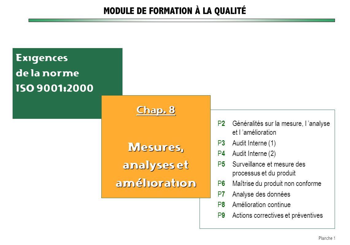 MODULE DE FORMATION À LA QUALITÉ