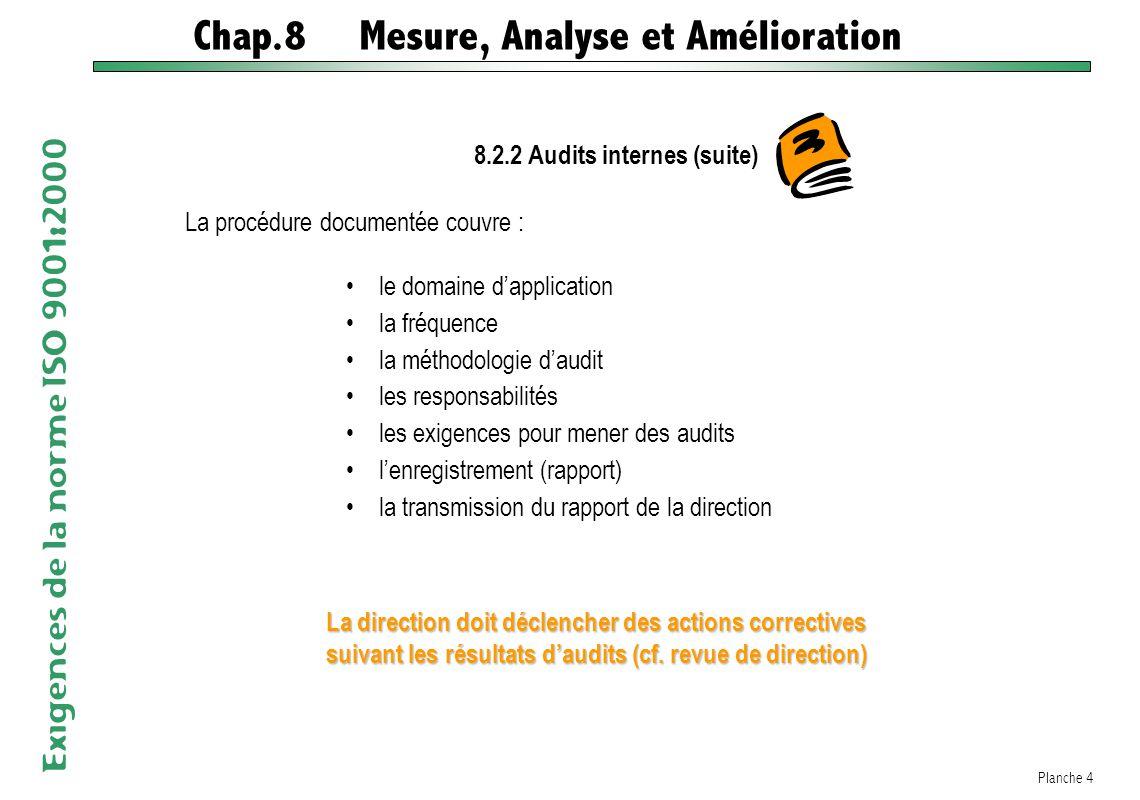 8.2.2 Audits internes (suite)
