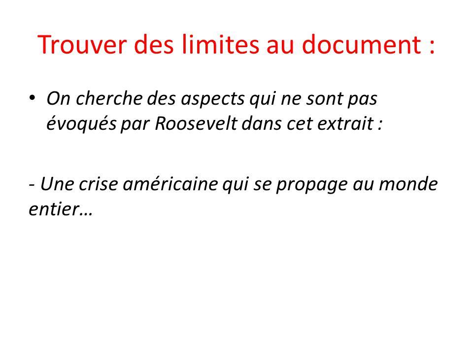 Trouver des limites au document :