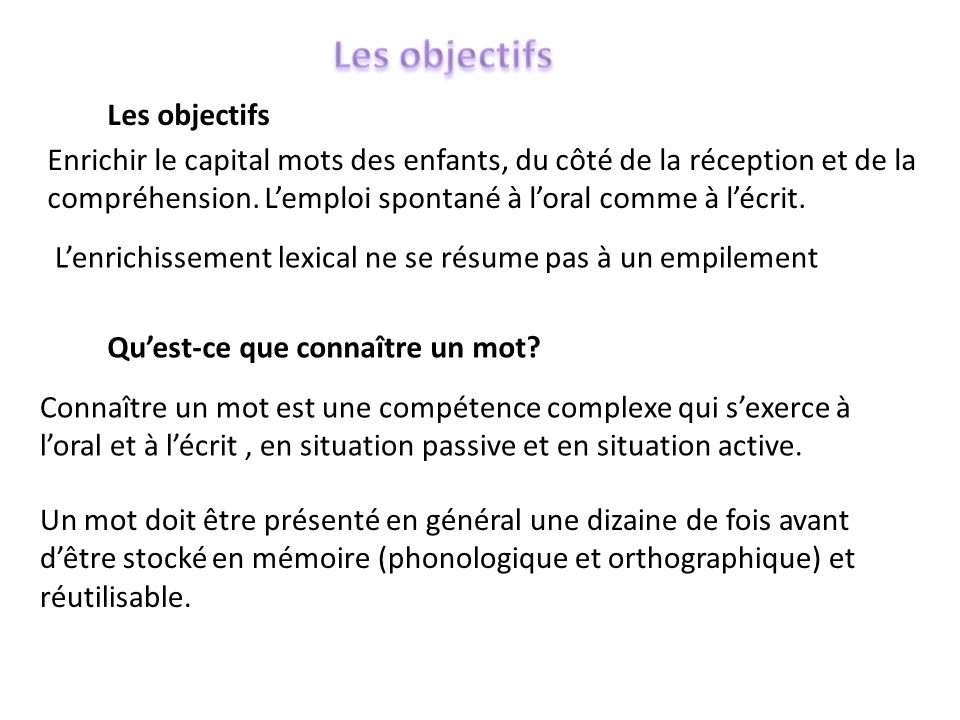 animation vocabulaire