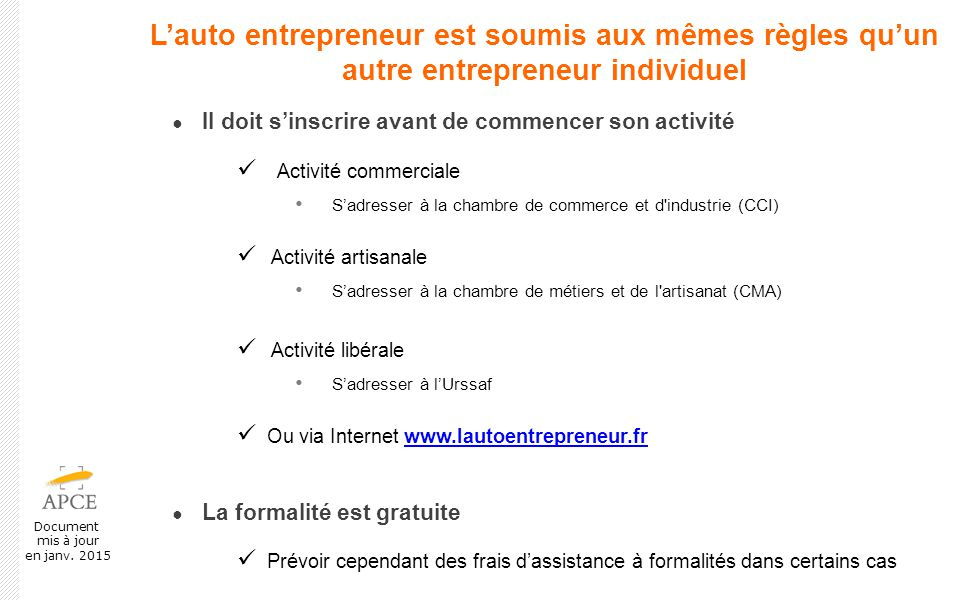 Prsentation Du Rgime De LAutoEntrepreneur  Ppt Video Online