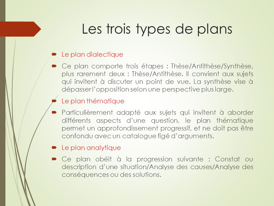 La dissertation litt raire ppt video online t l charger for Les plans de lowe
