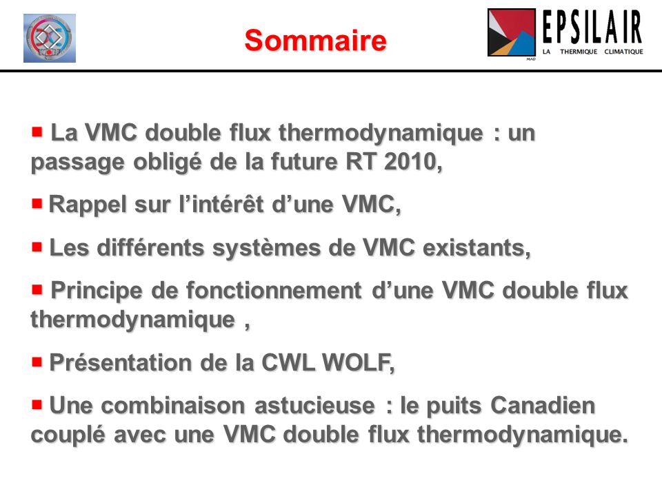 la vmc double flux thermodynamique ppt video online t l charger. Black Bedroom Furniture Sets. Home Design Ideas