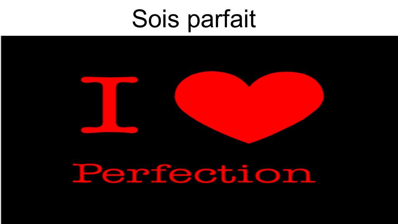 Sois parfait