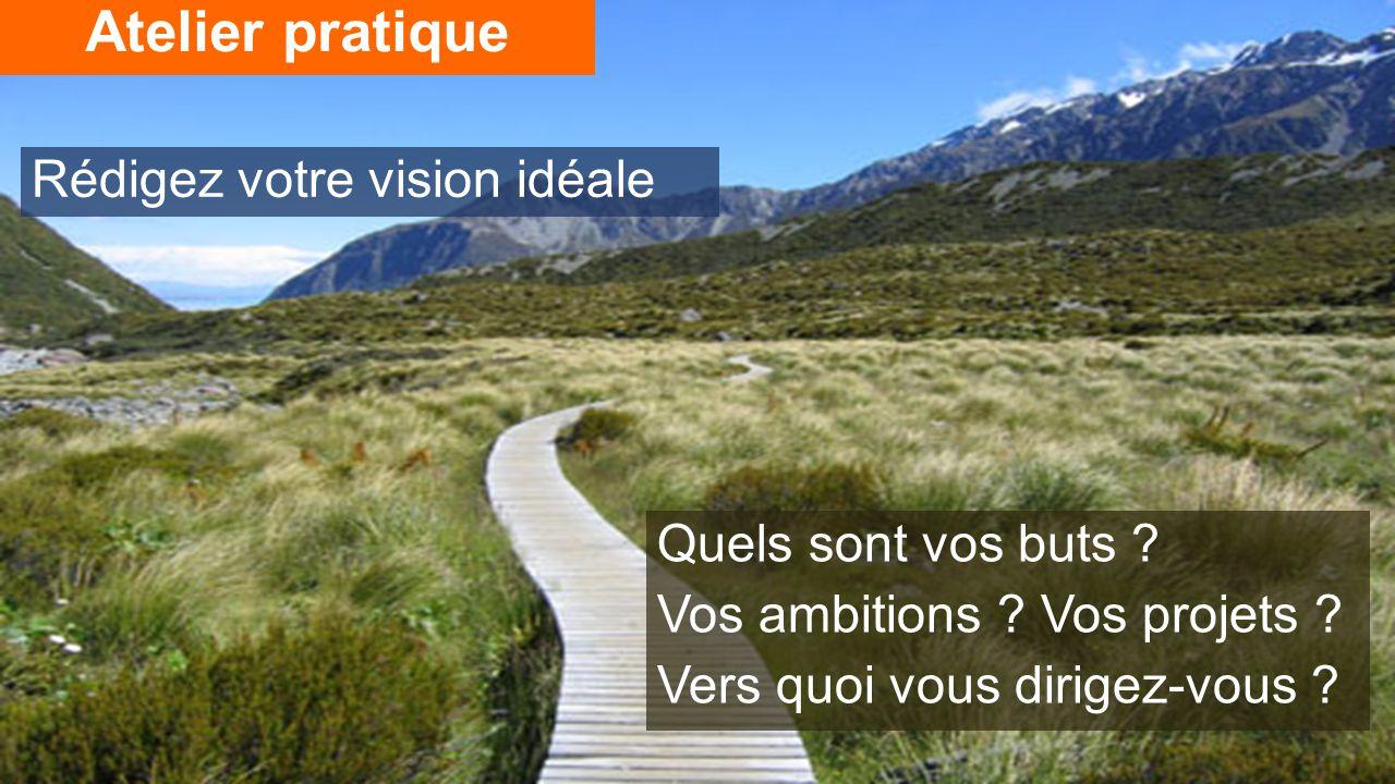 Atelier pratique Rédigez votre vision idéale Quels sont vos buts