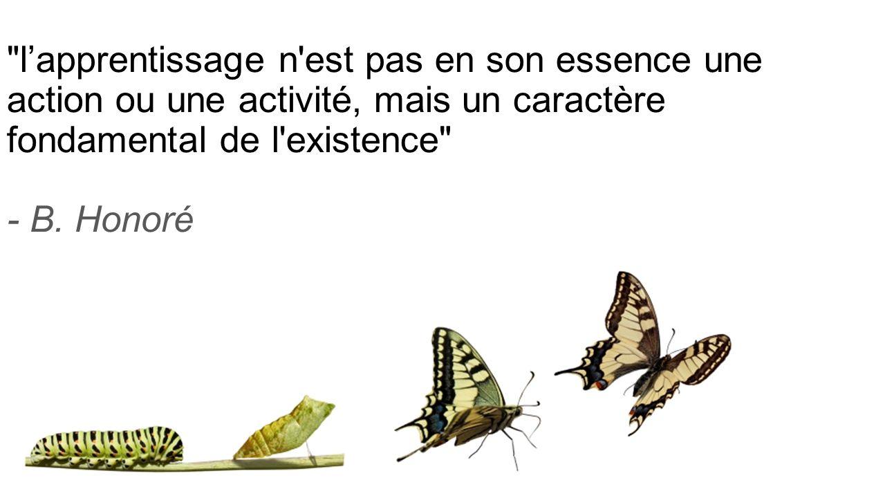 l'apprentissage n est pas en son essence une action ou une activité, mais un caractère fondamental de l existence