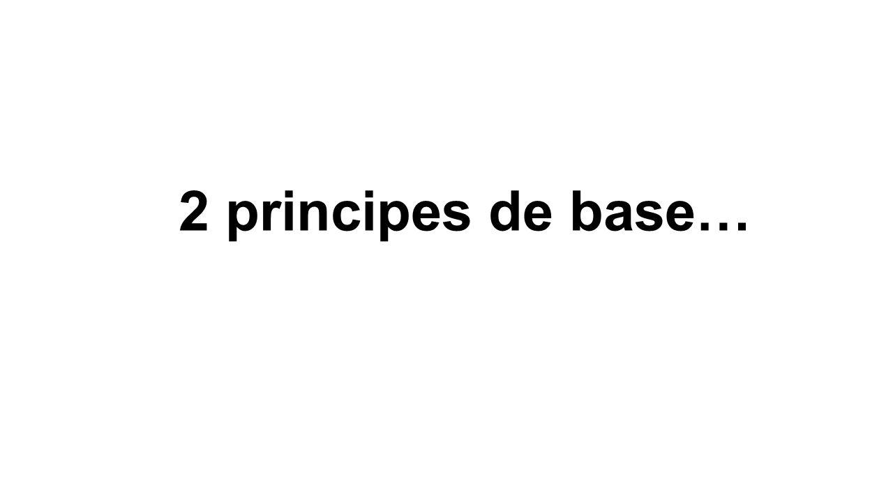 2 principes de base… Apprendre = fonction du vivant