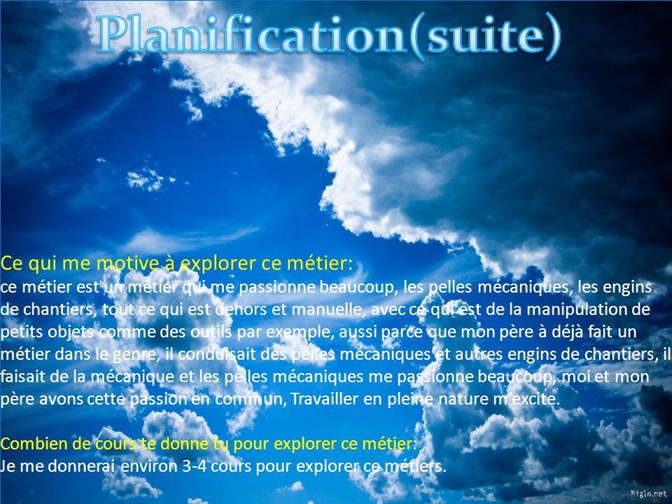 Planification(suite)