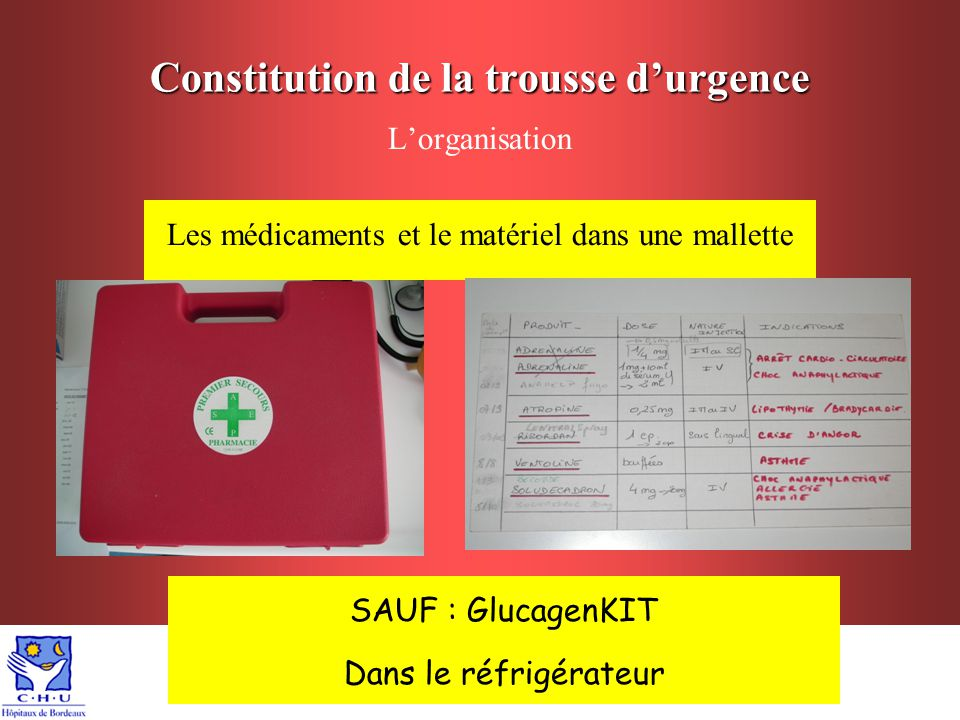 Constitution de la trousse d'urgence - ppt video online
