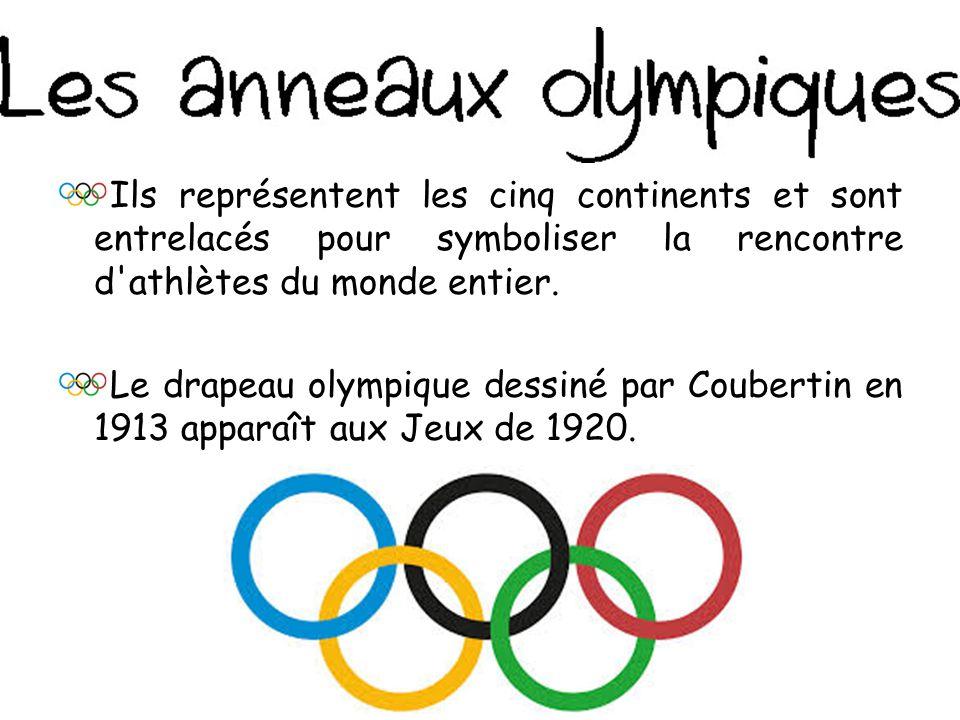 Ils représentent les cinq continents et sont entrelacés pour symboliser la rencontre d athlètes du monde entier.
