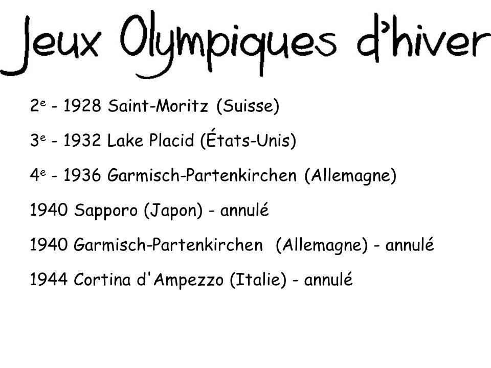 2e - 1928 Saint-Moritz (Suisse)