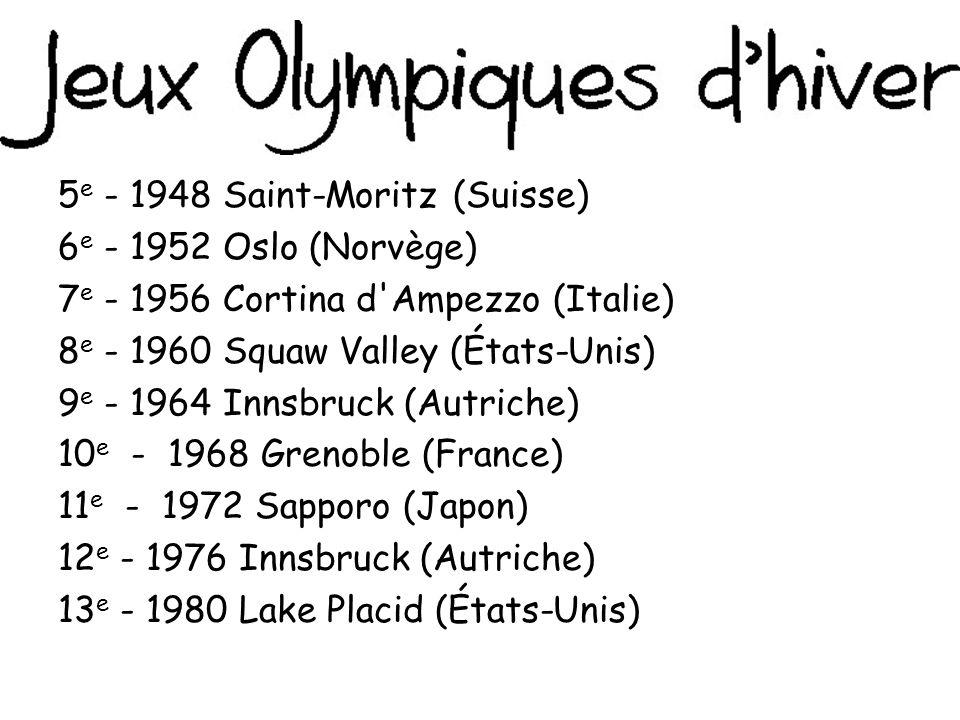 5e - 1948 Saint-Moritz (Suisse)