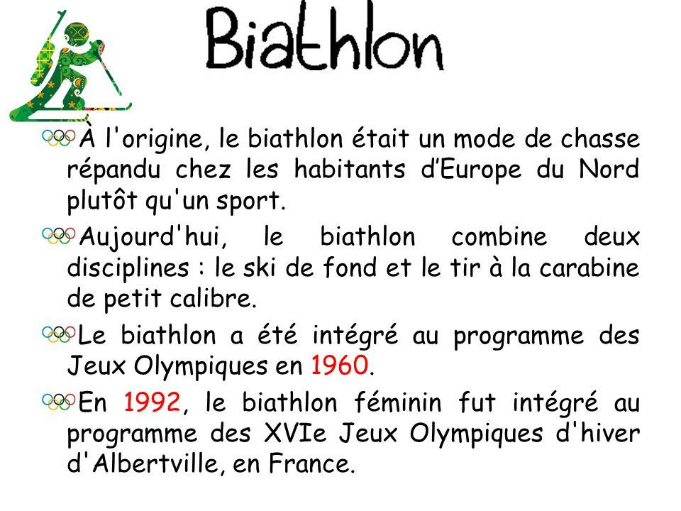 À l origine, le biathlon était un mode de chasse répandu chez les habitants d'Europe du Nord plutôt qu un sport.