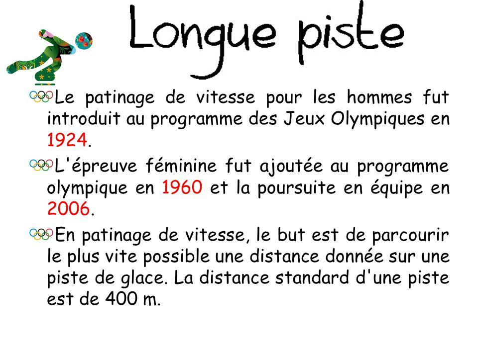 Le patinage de vitesse pour les hommes fut introduit au programme des Jeux Olympiques en 1924.