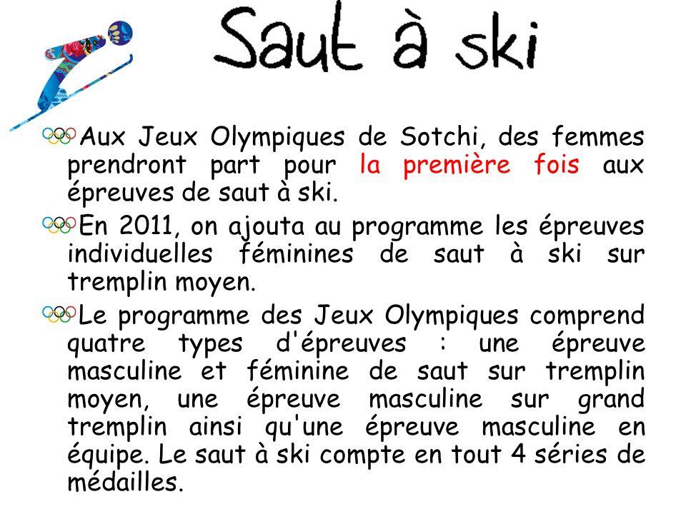 Aux Jeux Olympiques de Sotchi, des femmes prendront part pour la première fois aux épreuves de saut à ski.