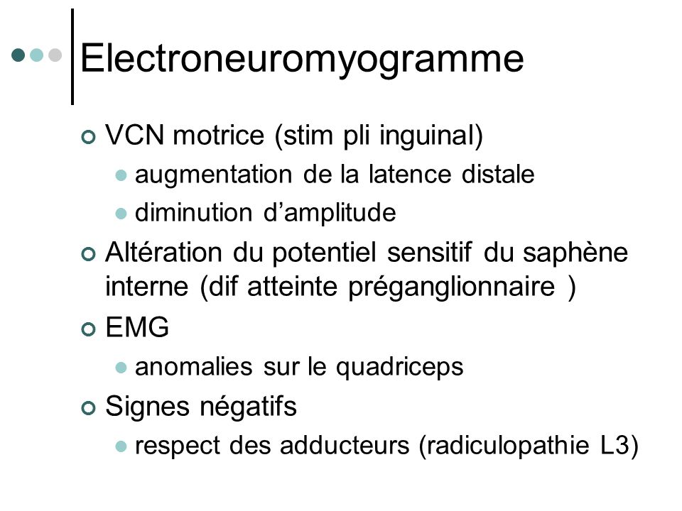 Electroneuromyogramme