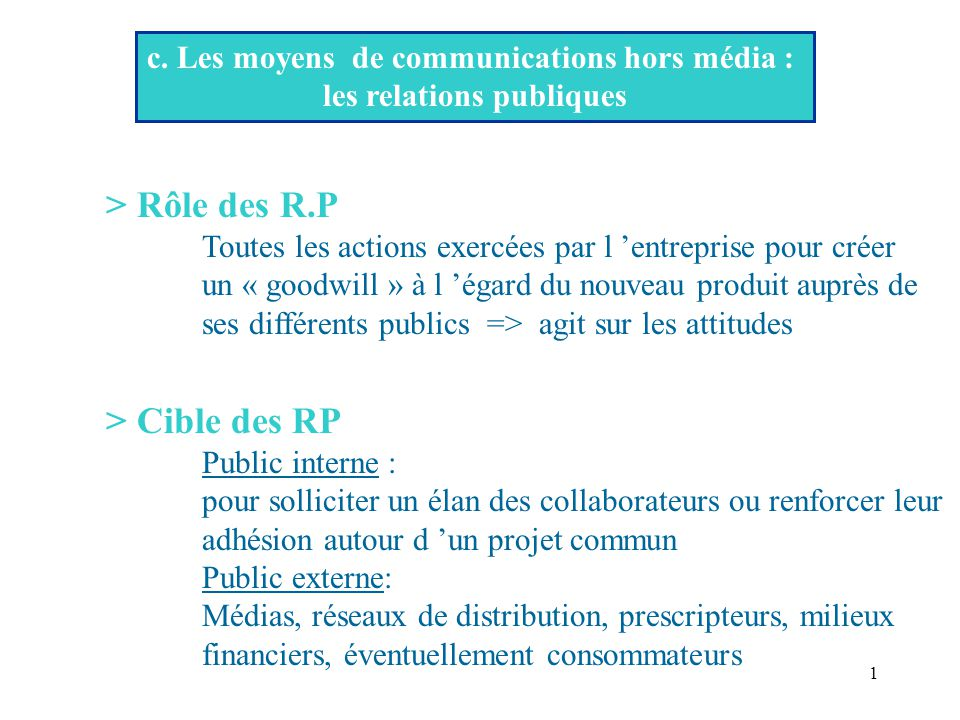 c  les moyens de communications hors m u00e9dia   les relations publiques