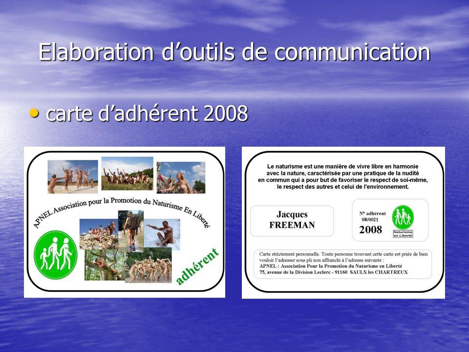 Elaboration d'outils de communication