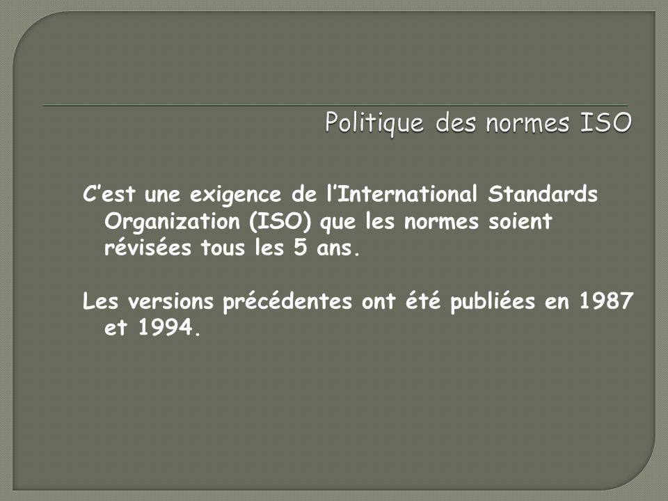 Politique des normes ISO