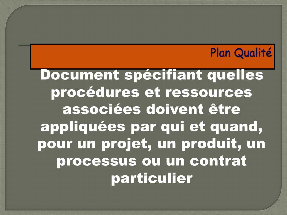 Plan Qualité