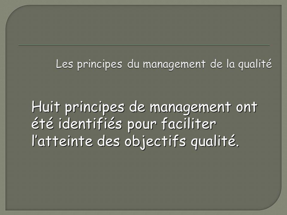 Les principes du management de la qualité