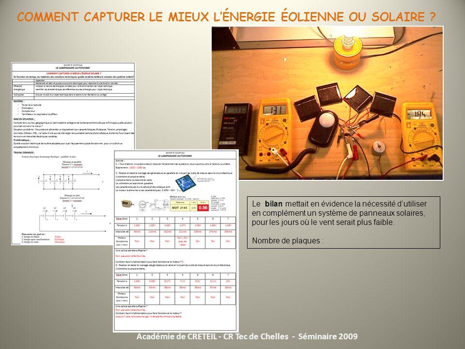 Seminaire 2009 niveau 4eme nouveaux programmes de technologie ppt video onl - Comment fonctionne les panneaux solaires ...