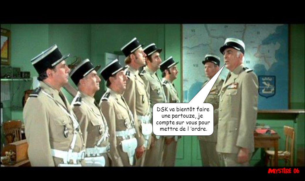 DSK va bientôt faire une partouze, je compte sur vous pour mettre de l 'ordre.