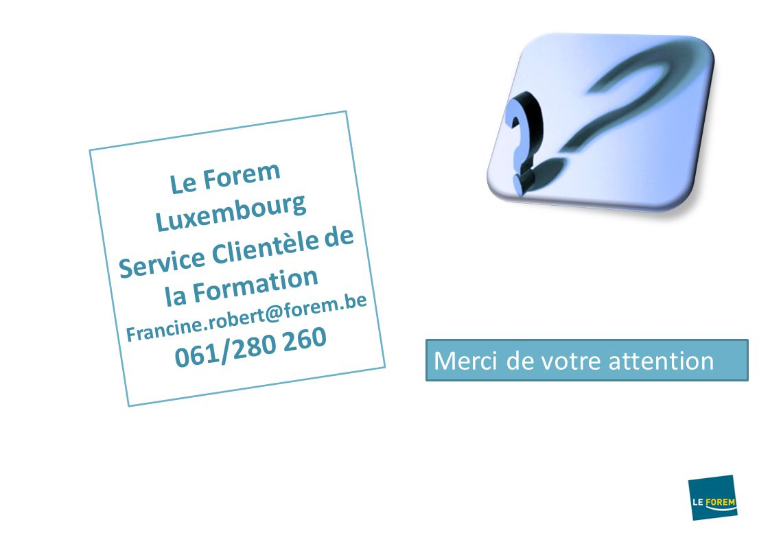 Forem formation for Domon service a la clientele