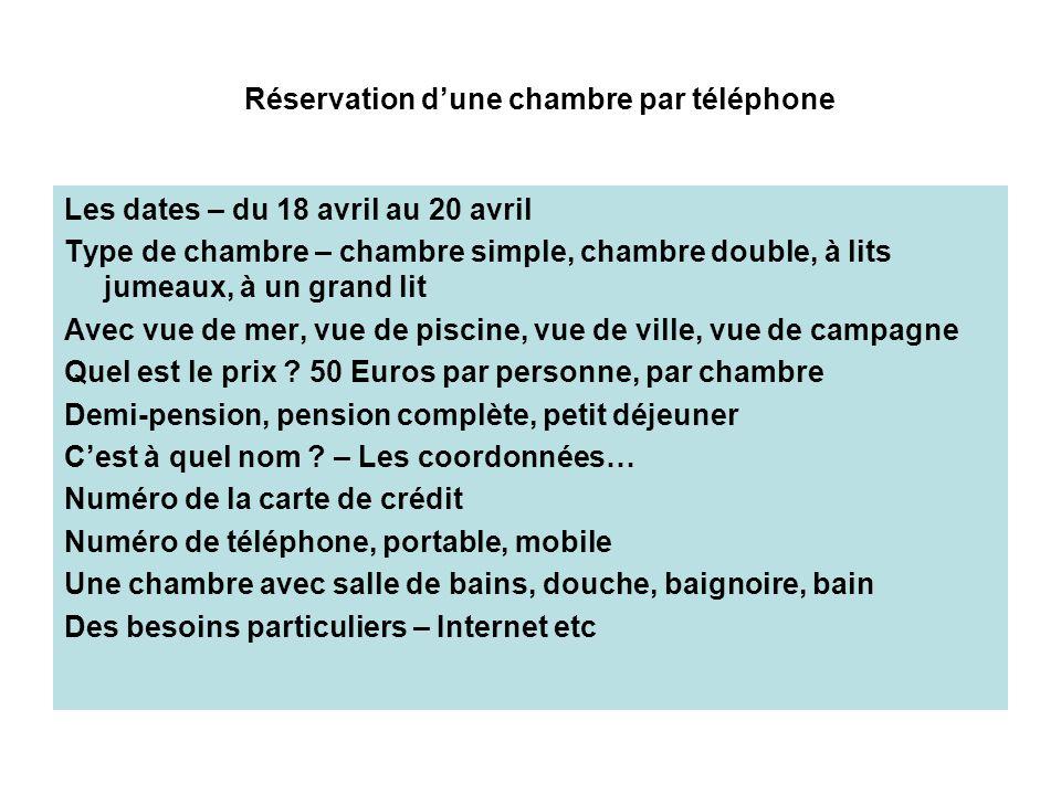 Fran ais niveau 5 h tellerie ppt - Numero de telephone de la chambre des commerces ...