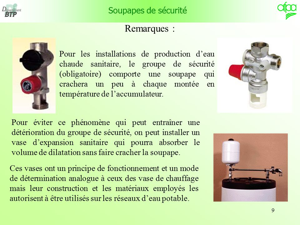 Les soupapes de surete ppt video online t l charger - Changer un groupe de securite sans vidanger ...