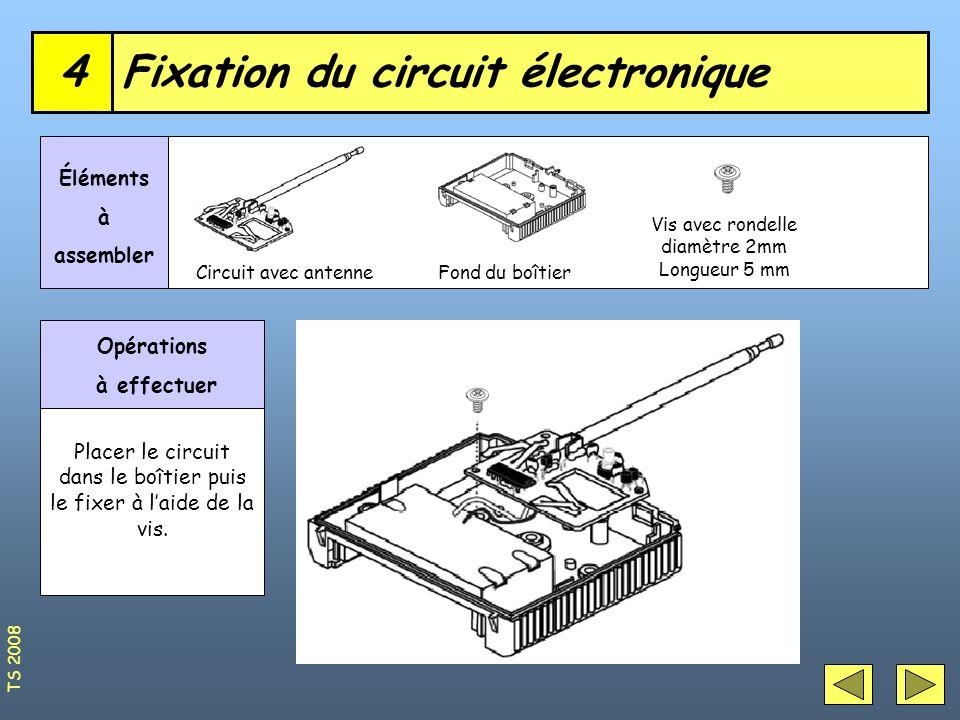 Fixation du circuit électronique