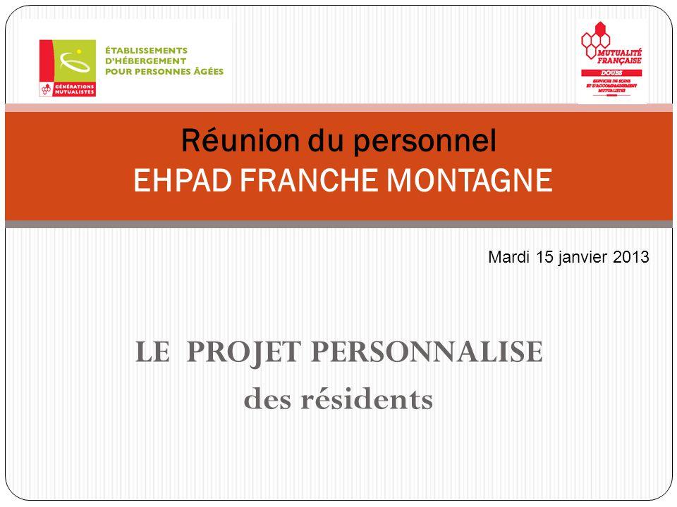 Réunion du personnel EHPAD FRANCHE MONTAGNE