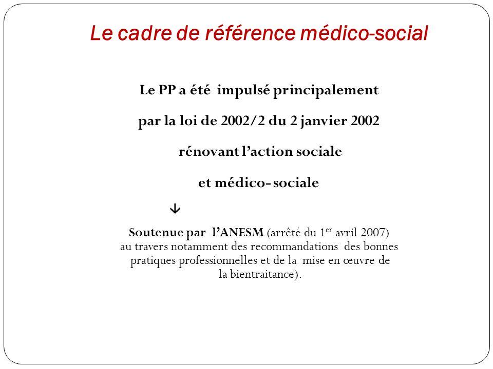 Le cadre de référence médico-social