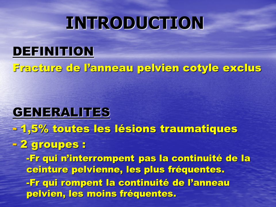 Les fractures du bassin ppt video online t l charger for Definition de l