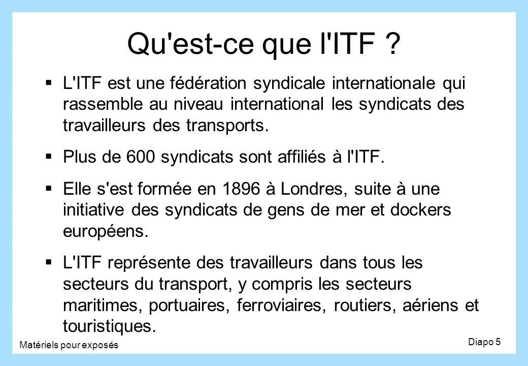 Qu est-ce que l ITF