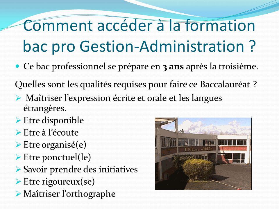 pr u00c9sentation du baccalaureat professionnel gestion