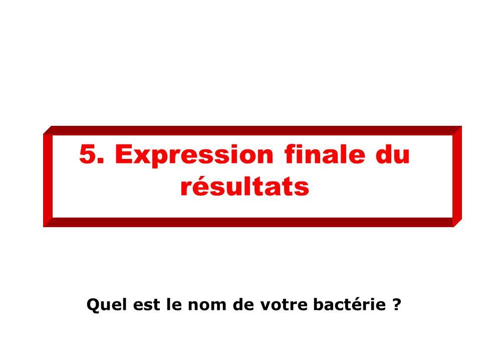 5. Expression finale du résultats