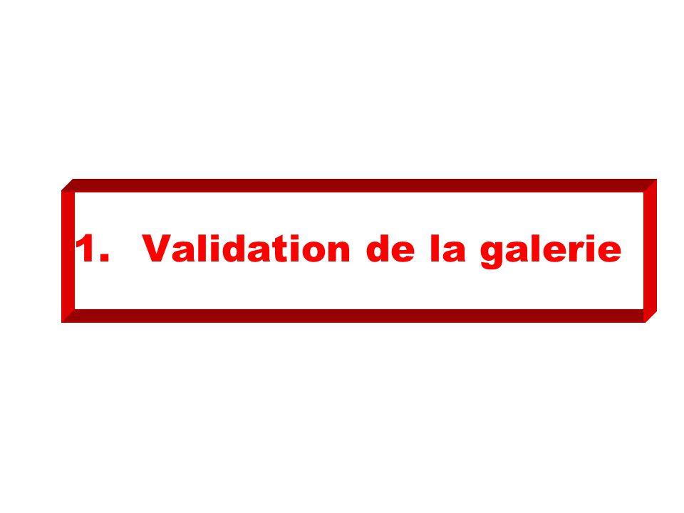 1. Validation de la galerie