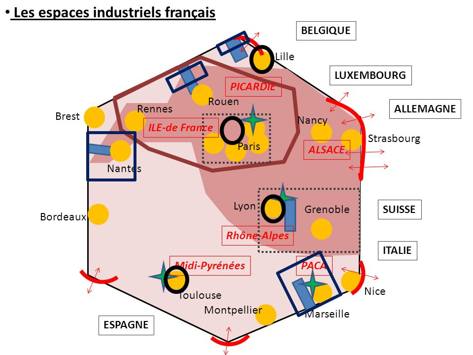 Les espaces industriels français