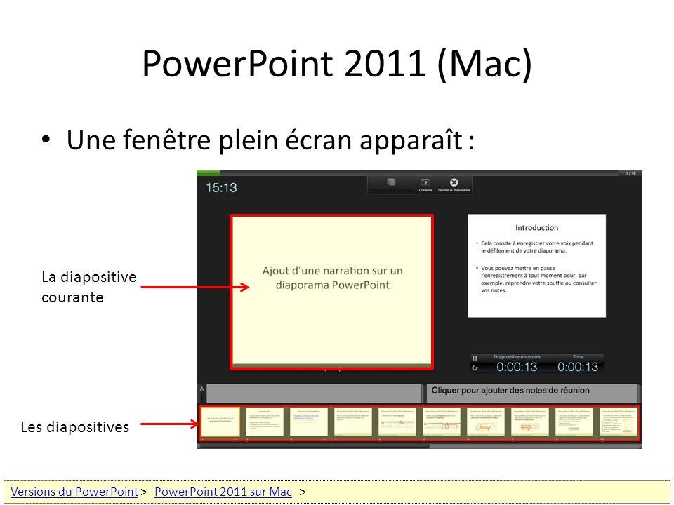 Ajout d une narration sur un diaporama powerpoint ppt for Plein ecran photo mac
