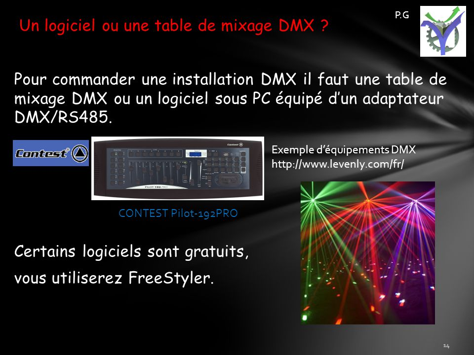 Protocole dmx p g d apr s un travail d l ves de 1 re sin - Telecharger table de mixage pc gratuit ...