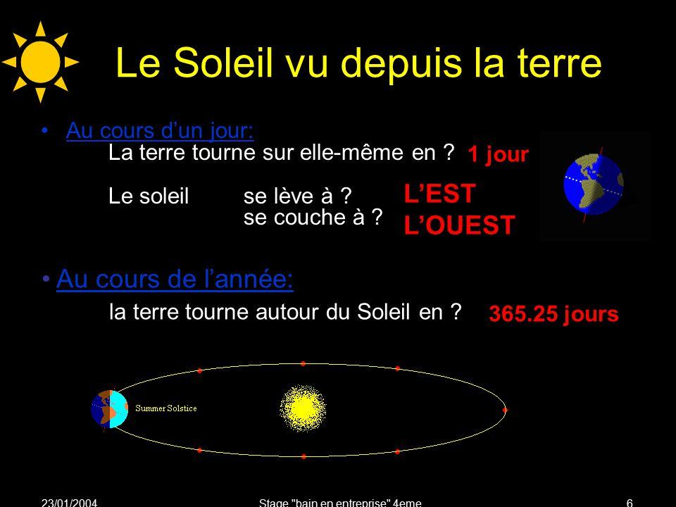 Stage bain en entreprise 4eme ppt video online t l charger - Le soleil se couche a l ouest ...