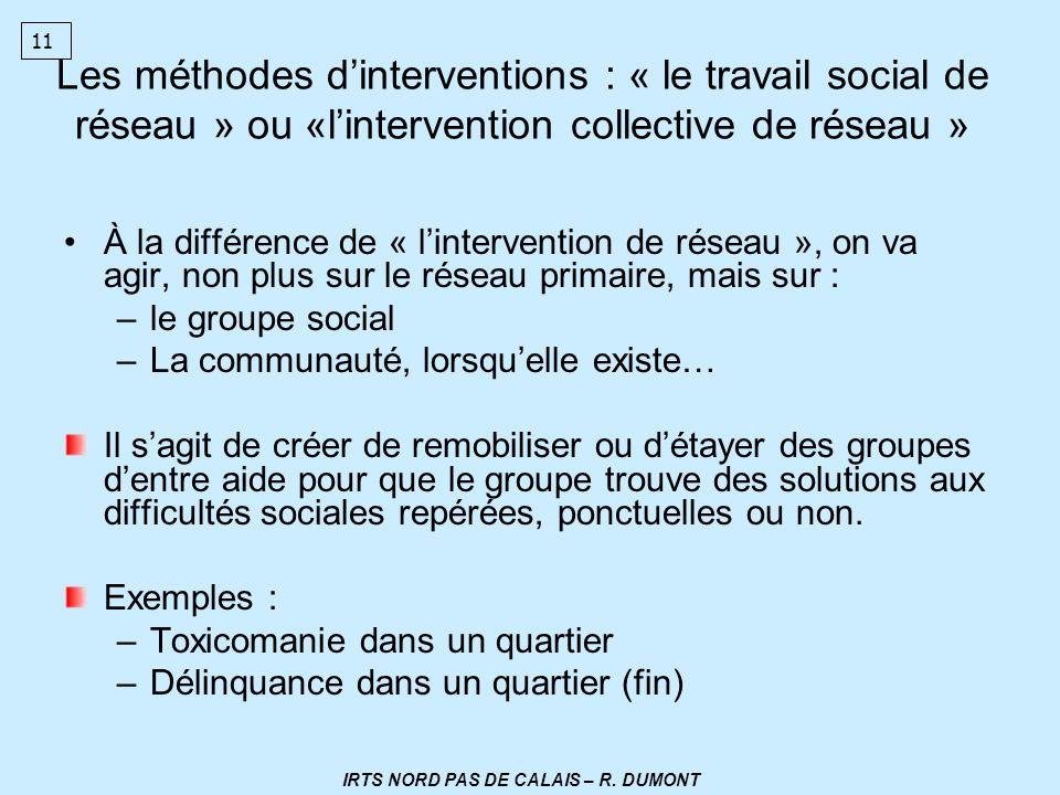 IRTS NORD PAS DE CALAIS – R. DUMONT