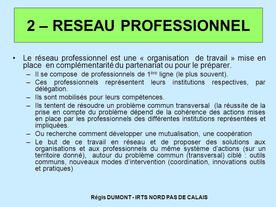 2 – RESEAU PROFESSIONNEL