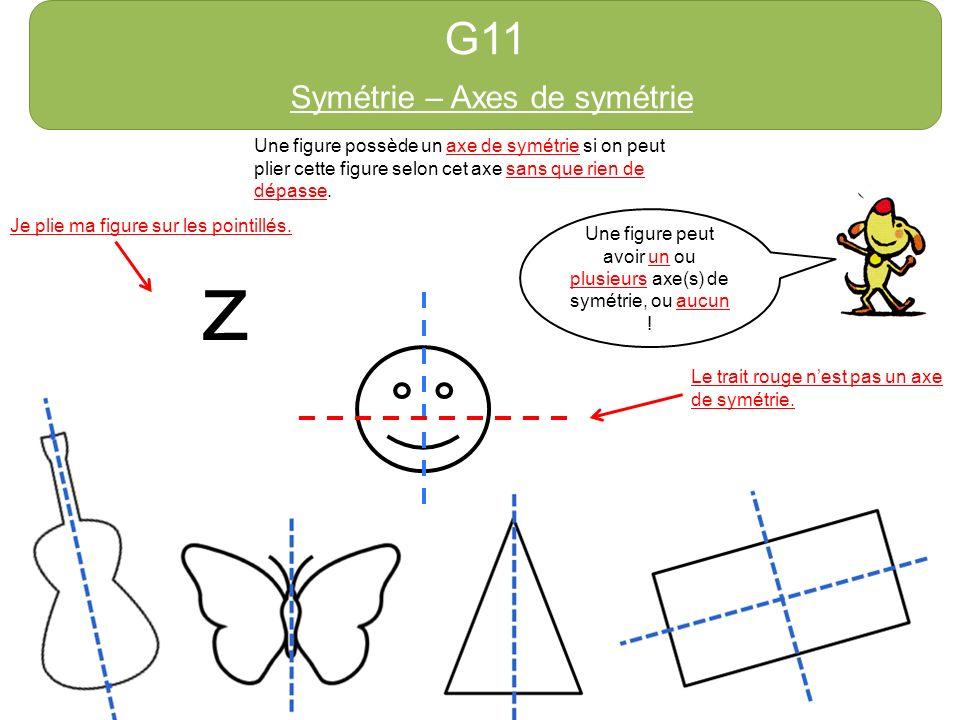 z G11 Symétrie – Axes de symétrie